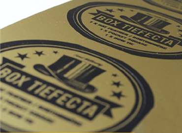 gold vinyl labels